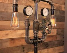steampunk pipe lamp - Szukaj w Google