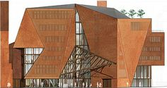 O'Donnell + Tuomey Architects / News Interesting Buildings, Architectural Drawings, Architects, Architecture Design, Modeling, Irish, Presentation, Art Deco, Diagram