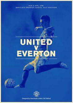 Match poster. United v Everton, 3 April 2016. Designed by @manutd