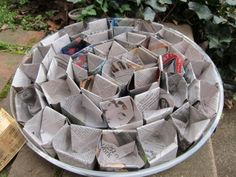 """Origami"" seed starting pots from lightbrownhare.blogspot.com"