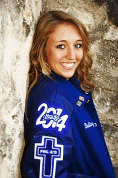 Senior letterman jacket photo - i took this at mission san jose in fall 201 Senior Picture Props, Senior Picture Makeup, Senior Picture Outfits, Senior Year Pictures, Senior Pictures Sports, Senior Photos, Letterman Jacket Pictures, Letterman Jackets, Varsity Jackets
