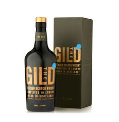 The Gild whisky packaging by Pearlfisher, United Kingdom Beer Packaging, Food Packaging Design, Beverage Packaging, Packaging Design Inspiration, Whiskey Blue, Wine And Liquor, Scotch Whisky, Bottle Design, Whiskey Bottle