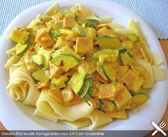 Nudel - Curry mit Zucchini, ein leckeres Rezept aus der Kategorie Gemüse. Bewertungen: 27. Durchschnitt: Ø 4,1.