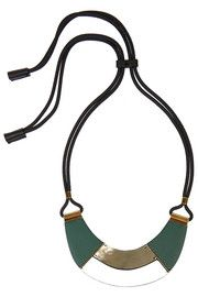 MarniLeather and horn necklace  #MFW