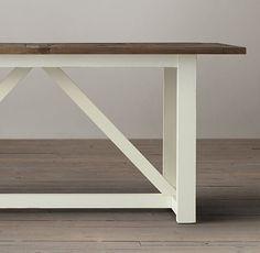 Parquet X-Brace Rectangular Dining Table - Restoration Hardware FINAL Sale under $1K