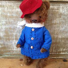 Available NOW Nov. 2015 via EBAY -- 11 inch Artist Handmade Mohair Teddy Bear Paddignton by Sasha Pokrass