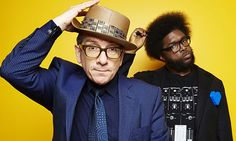 """Dreamlike and troubled … Elvis Costello and Ahmir """"Questlove"""" Thompson of the Roots.  Photograph: Dan Hallman/Invision"""