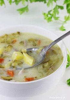 Zupa ogórkowa na rosole, 1 Soup Recipes, Vegetarian Recipes, Healthy Recipes, Healthy Food, Polish Recipes, Healthy Dishes, Soups And Stews, Cheeseburger Chowder, Cucumber