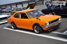 Orange Corolla TOYOTA