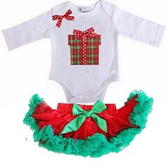 Kirei Sui Red Green Pettiskirt Xmas Gift Box Bodysuit X-Small White * To view further, visit