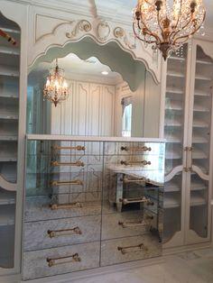 Creative Tonic - Courtnay Tartt Elias: Master Closet with gold antique mirrors