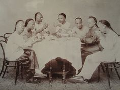 ANTIQUE VINTAGE CHINA CHINESE TURN 19th CENTURY NOODLES DINNER RECIPE RARE PHOTO