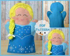 Set of 2 PDF Pattern Princess Elsa and Princess Anna Hand