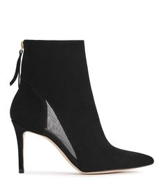 62d16aac5959 The Kylie boots in black suede are crafted to a sleek point-toe silhouette  with