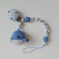 Schnullerkette kleiner Wal my own pattern #häkelnisttoll #häkeln #baby…