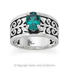 adoree ring with emerald from james avery - James Avery Wedding Rings