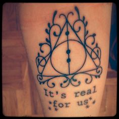 coolest deathly hallows tattoo I've seen