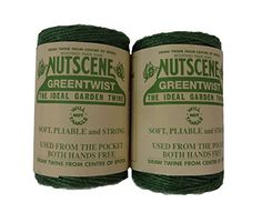 Red and Green 492-Feet 2-Pack Bosmere K815X 3-Ply Nutscene Holiday Tin of Twine