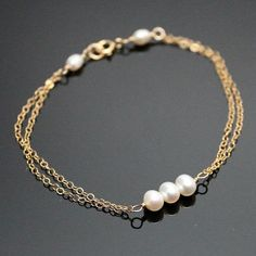 Pearl Bracelet - Sterling Silver or Gold-filled - Freshwater Pearls