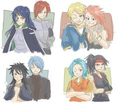 Fairy Tail Genderbend! (Yay,all my fave ships are together! XD)