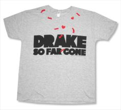 "DRAKE - ""SO FAR GONE"" SOFT HEATHER GREY T-SHIRT - NEW ADULT SMALL S"