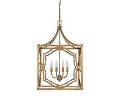 Capital Lighting 9482AG - Blakely 4 Light Foyer, Antique Gold