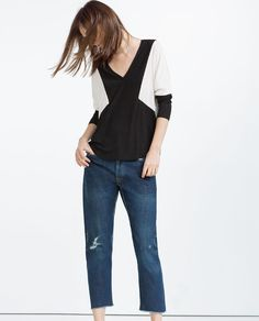 Image 1 of COLOR BLOCK TOP from Zara