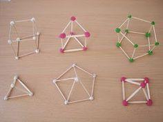 taquiamila: Próxima actividad: cuerpos geométricos con palillos de dientes Geometry Activities, Preschool Activities, Science Projects, School Projects, Teaching Shapes, Montessori Math, 3d Shapes, Math Classroom, Math Resources