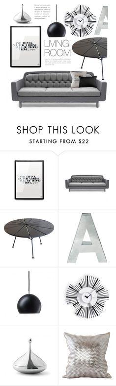 """Black & Grey Decor"" by lovethesign-eu ❤ liked on Polyvore featuring interior, interiors, interior design, home, home decor, interior decorating, OK Design, Seletti, Nyta and Menu"