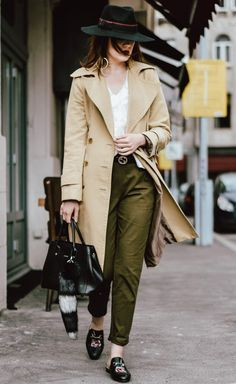 The best high street alternative to the popular Gucci mules (Couturezilla) It Cosmetics, Charlotte Tilbury, Black Fedora, Fedora Hat, Gucci Brixton Loafer, Khaki Jogger Pants, Beige Trench Coat, Cute Spring Outfits, Black Leather Tote Bag