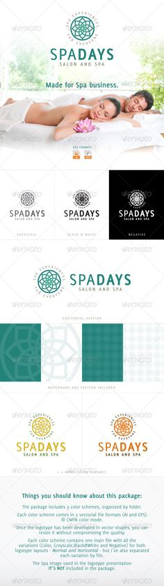 Spa Days  Salon and SPA — Vector EPS #professional #business • Available here → https://graphicriver.net/item/spa-days-salon-and-spa/4050470?ref=pxcr