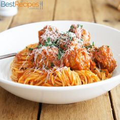 This recipe truly makes the best spaghetti and meatballs! You won't be disappointed #pasta #dinner #meat #ideas