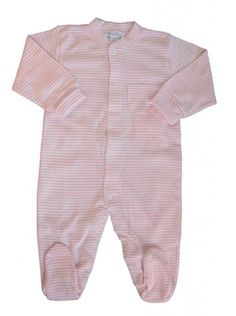 Kissy Kissy Baby Stripes Striped Footie-White With Pink-18-24 Months