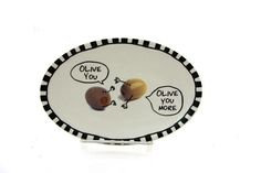 Funny gift Olive You Olive You More dish change tray by LennyMud