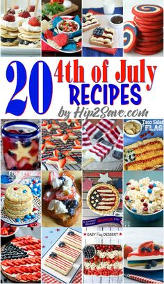 Twenty of July Recipes from Around the Web - Best Of Tips, Recipes, Crafts & More - # Fourth Of July Food, 4th Of July Celebration, 4th Of July Party, July 4th, 4th Of July Food Sides, Patriotic Desserts, 4th Of July Desserts, Patriotic Party, Memorial Day Desserts
