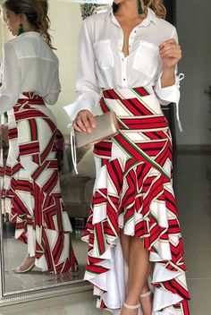 You love stylish wears like this and you want some for yourself? You love being in fashion making money and you don't know how to get started? You are already into fashion but you need good tailors to hire or work with? Contact us via (SMS,c Skirt Outfits, Dress Skirt, Aaliyah, African Dress, Pretty Outfits, African Fashion, Designer Dresses, Fashion Dresses, Fashion Looks