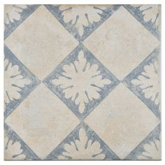 SomerTile 13x13-inch Alpina Blanco Décor Porcelain Floor and Wall Tile (Case of 9)