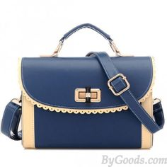 3c9fcd7ece  lt 3 Cute Navy Blue Long Strapped Handbag with Apricot Sides  lt 3