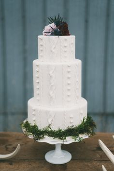This wintry cake that looks as cozy as a sweater.