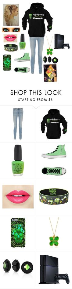 """Your first date-BEN drowned"" by twilightfreak18-1 ❤ liked on Polyvore featuring Alexander Wang, Kawasaki, OPI, Converse, Fiebiger, Junk Food Clothing, Aurélie Bidermann, Bling Jewelry, Sony and women's clothing"