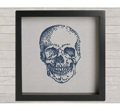 Anatomy No. 1 Skull  Cross Stitch Pattern
