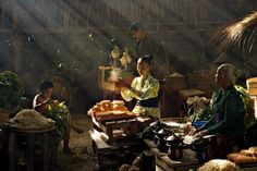 Traditional Market by Norbert Auryn Auryn, Traditional Market, Dutch East Indies, Photo Galleries, Asia, Tapestry, Photography, Painting, Life