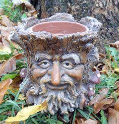 Latex w Plastic Log Tree Face Mold Planter Mold Mould | eBay