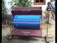 SPIRAL PUMP TO TRY IN THE LAND (SDN teacher M.Rasyad Cenlecen 2, Pakong-Pamekasan Madura) - YouTube