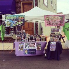 All set up and ready to sell #comics and kids book at Jenkintown Fest! Music crafts beer! Cmon out!