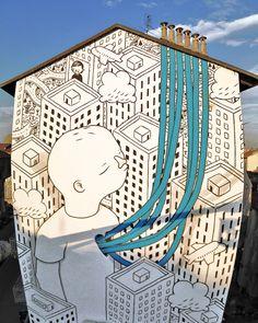 Millo - Street art, Mural #13 for Bart - Torino