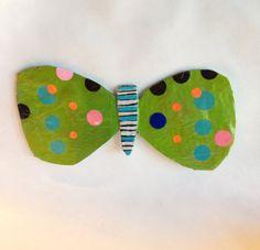 Let's Fly paper mache butterfly wall art by heartsandneedles, $25.00