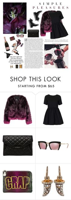 """""""Happy belated birthday Lena!!"""" by iiina ❤ liked on Polyvore featuring Motel, Chanel, Givenchy, Miu Miu, House of Holland, Monan and My Mum Made It"""