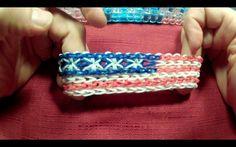 Starburst American Flag Rainbow Loom