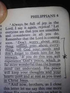 Philippians 4:6-7 - words of comfort!!